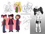 Yume Nikki Sketch Dump by ClaraKerber