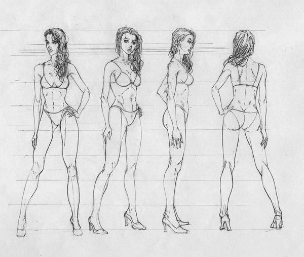 Female Study by coolbeanfive