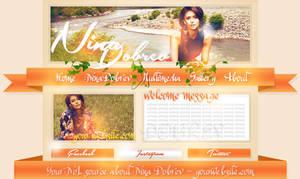 Nina Dobrev Simple PSD Header