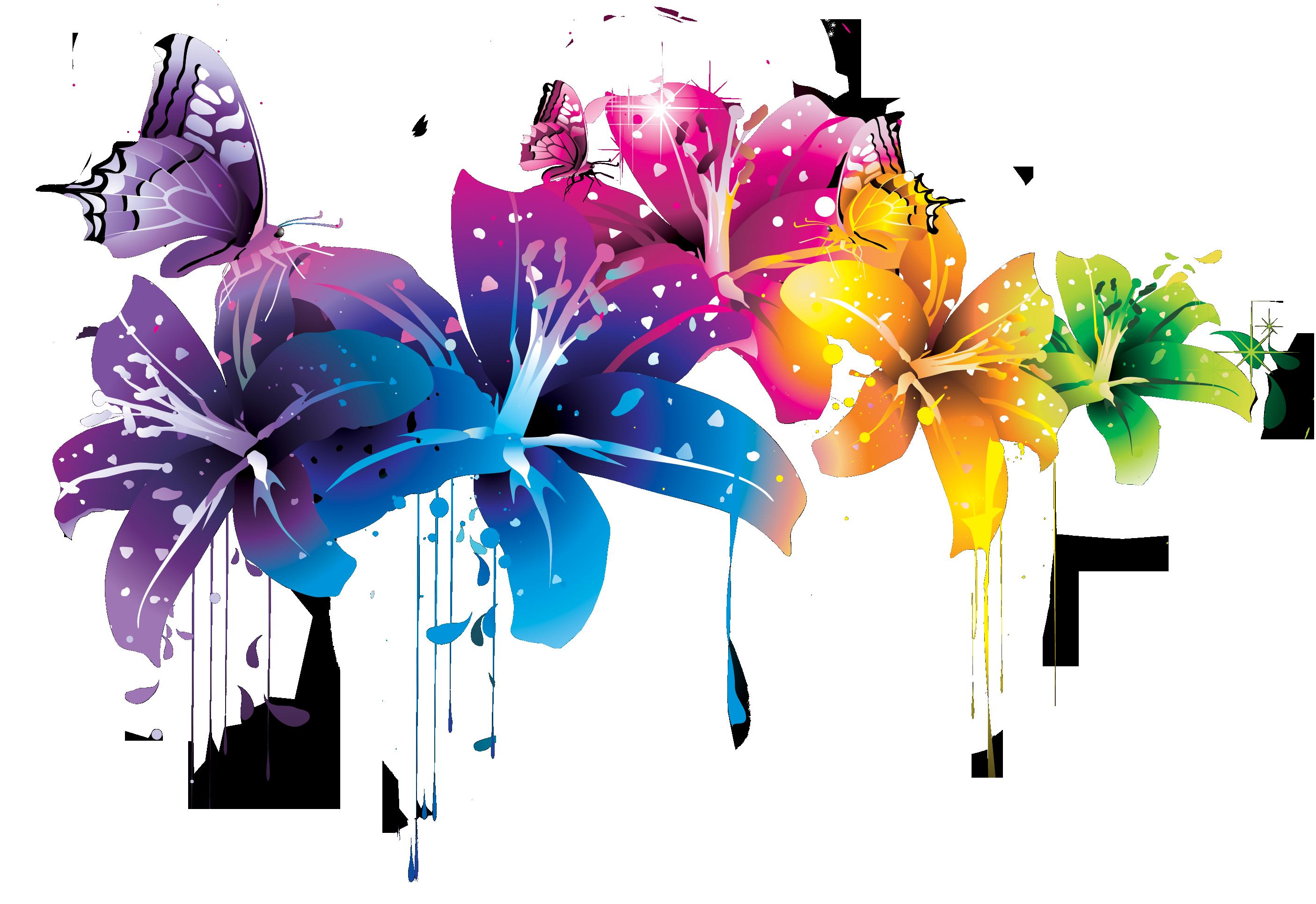 Floral doodles clipart floral elements clip art branches | Etsy