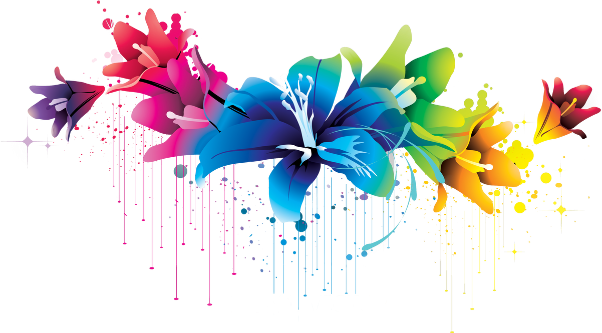 ++ Colorful Flower Vector Clipart PNG 02 by BrielleFantasy ...