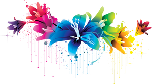 ++ Colorful Flower Vector Clipart PNG 02