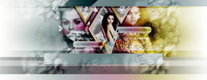 Selena Gomez V Magazine PSD Header