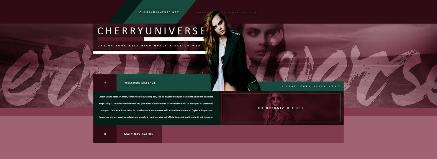 Cara Delevingne PSD Header by BrielleFantasy