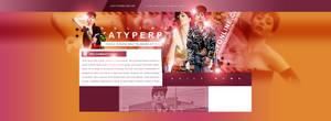 Katy Perry PSD Header