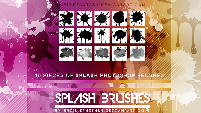 Splash Photoshop Brushes by BrielleFantasy