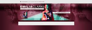 Emilia Clarke PSD Header by BrielleFantasy
