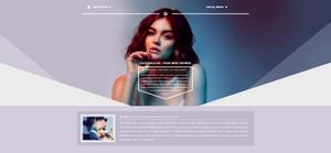 Lucy Hale Diamond PSD Header | FREE