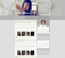Adam Driver Fansite | WordPress Theme by BrielleFantasy