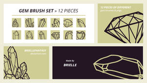 Gem Brush Set | FREE by BrielleFantasy