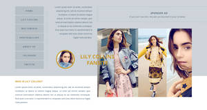 Lily Collins PSD Header | FREE
