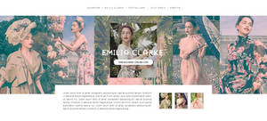 Emilia Clarke Harpers Bazaar PSD header v.01