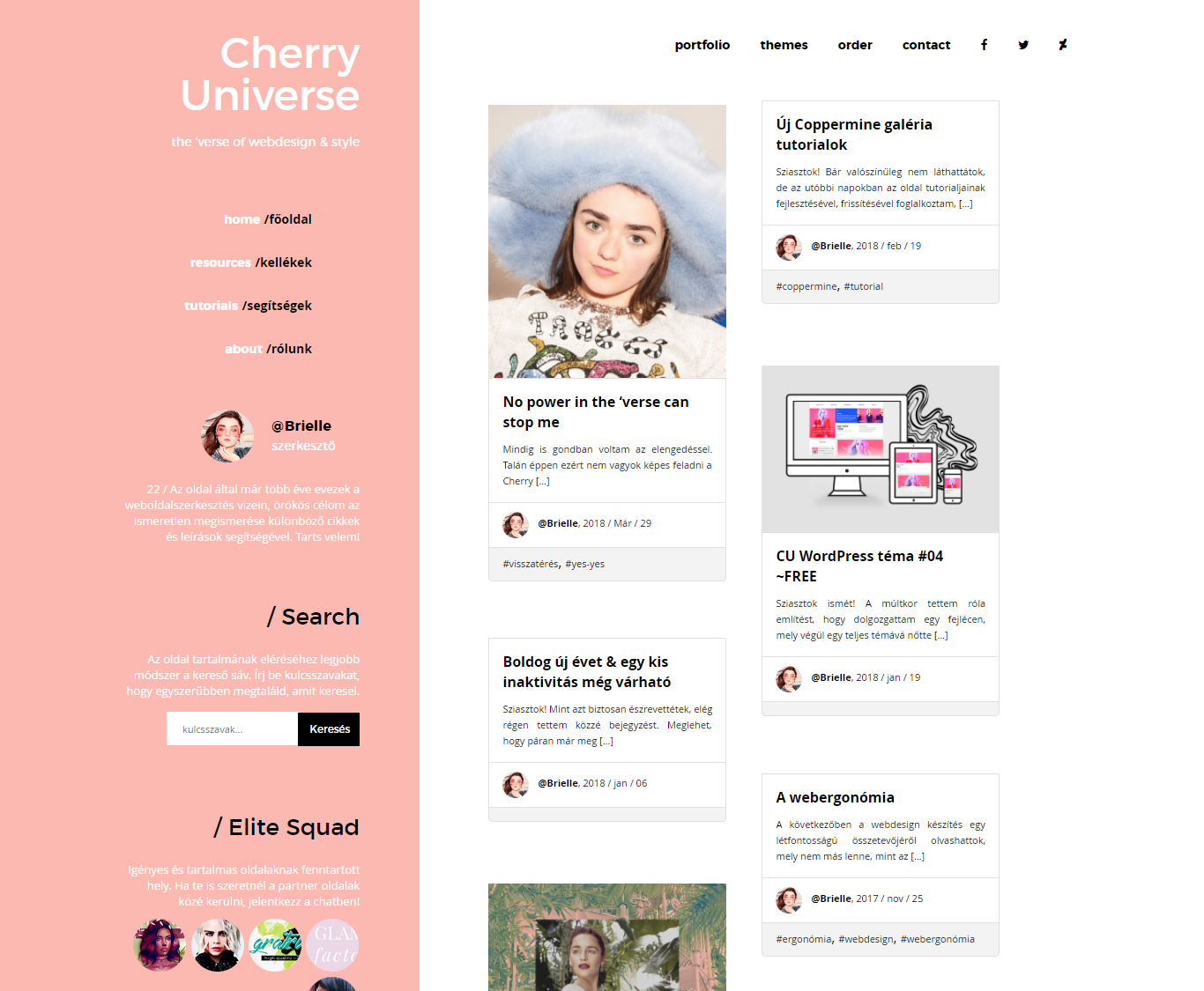 New design on CherryUniverse