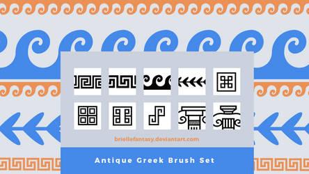 Antique Greek Brush Set   FREE
