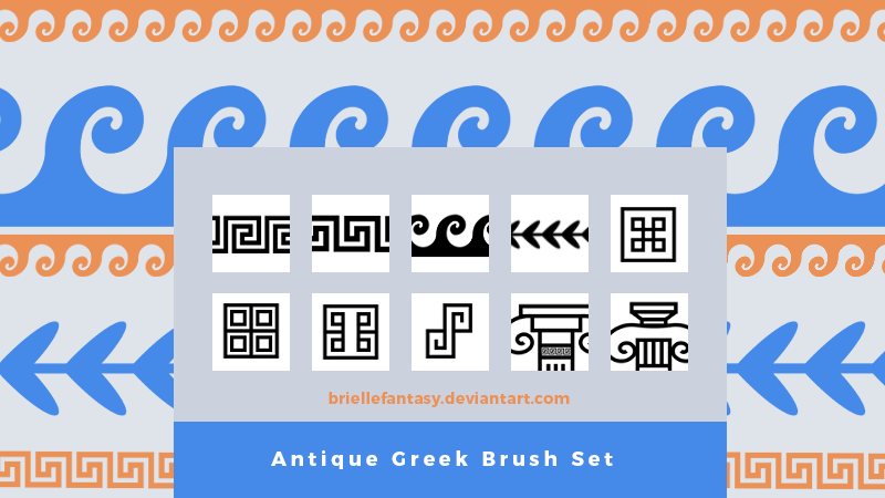 Antique Greek Brush Set   FREE by BrielleFantasy