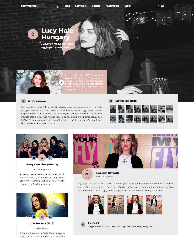 LucyWeb WordPress Theme by BrielleFantasy