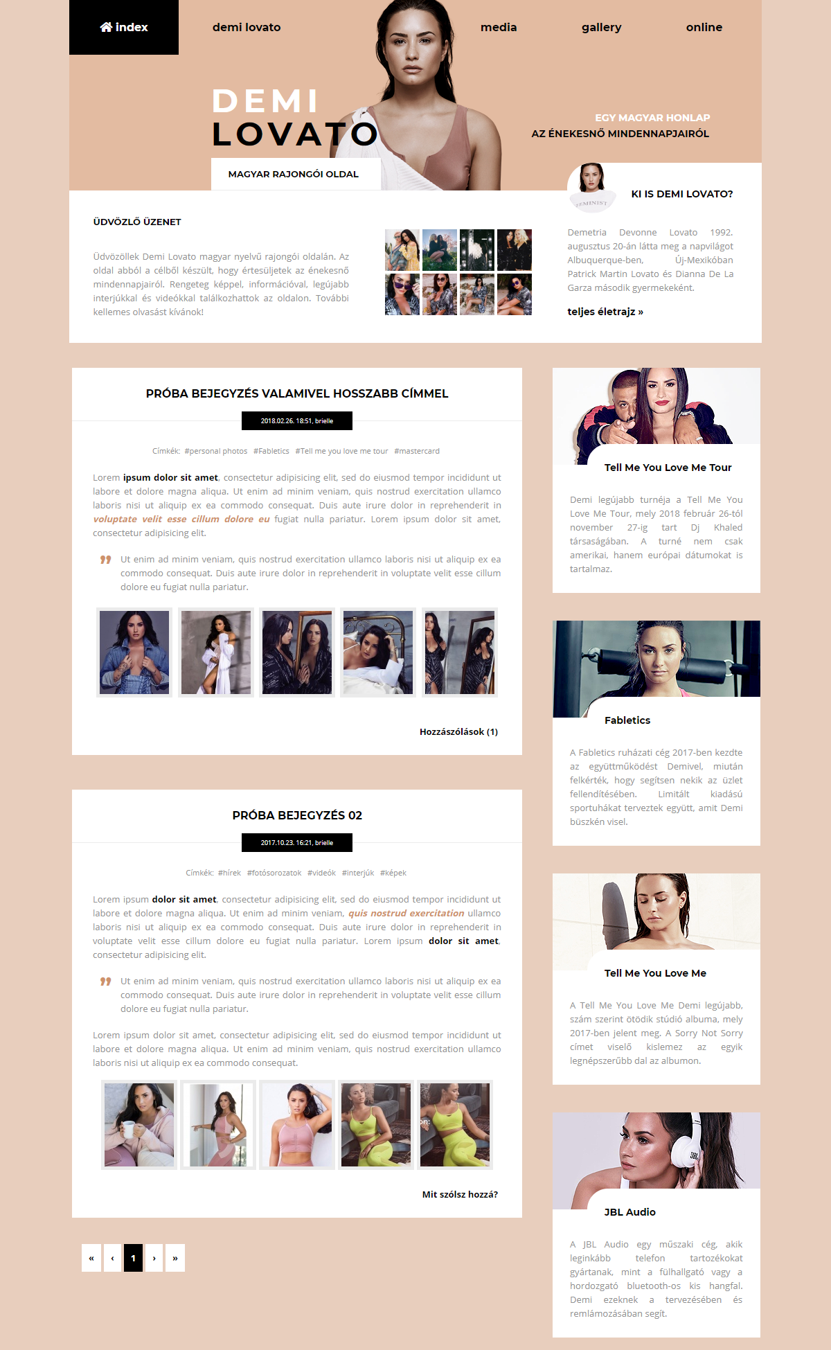 Demi Lovato Gportal Theme 02 by BrielleFantasy
