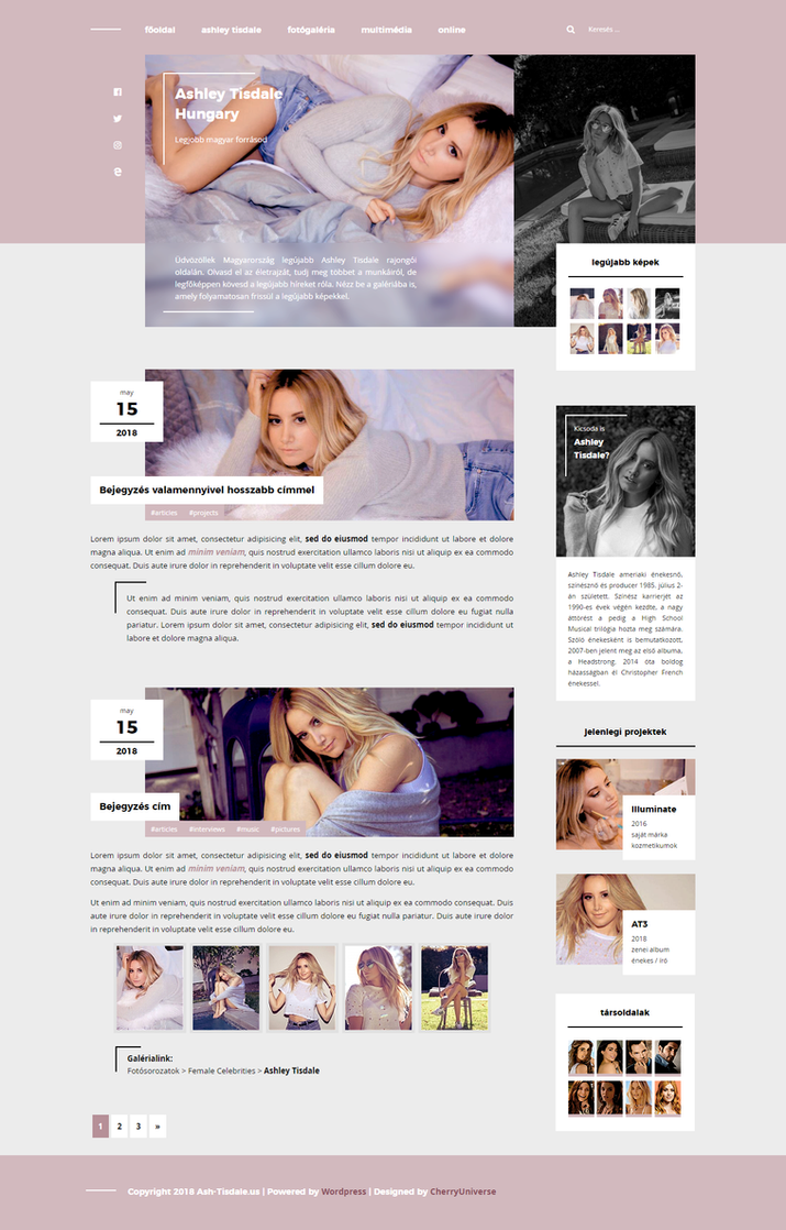 Ash-Tisdale WordPress theme by BrielleFantasy