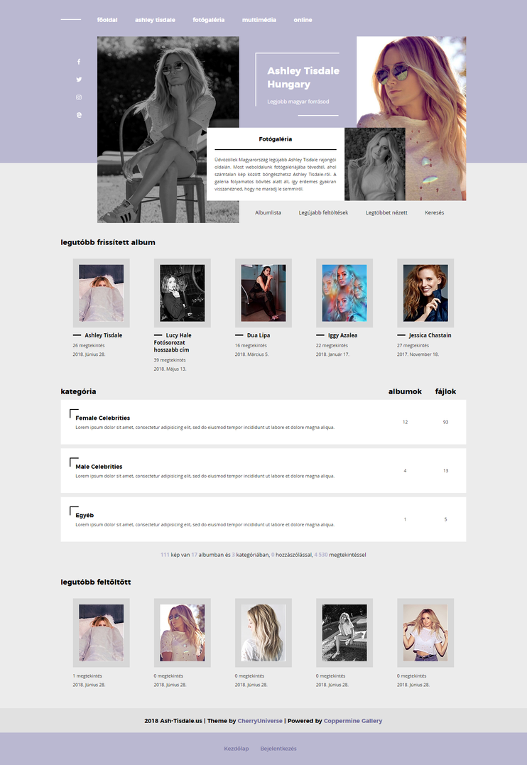 Ash-Tisdale Coppermine Gallery Theme by BrielleFantasy