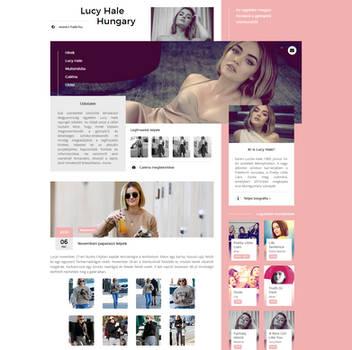 Lucy Hale Hungary WordPress Theme