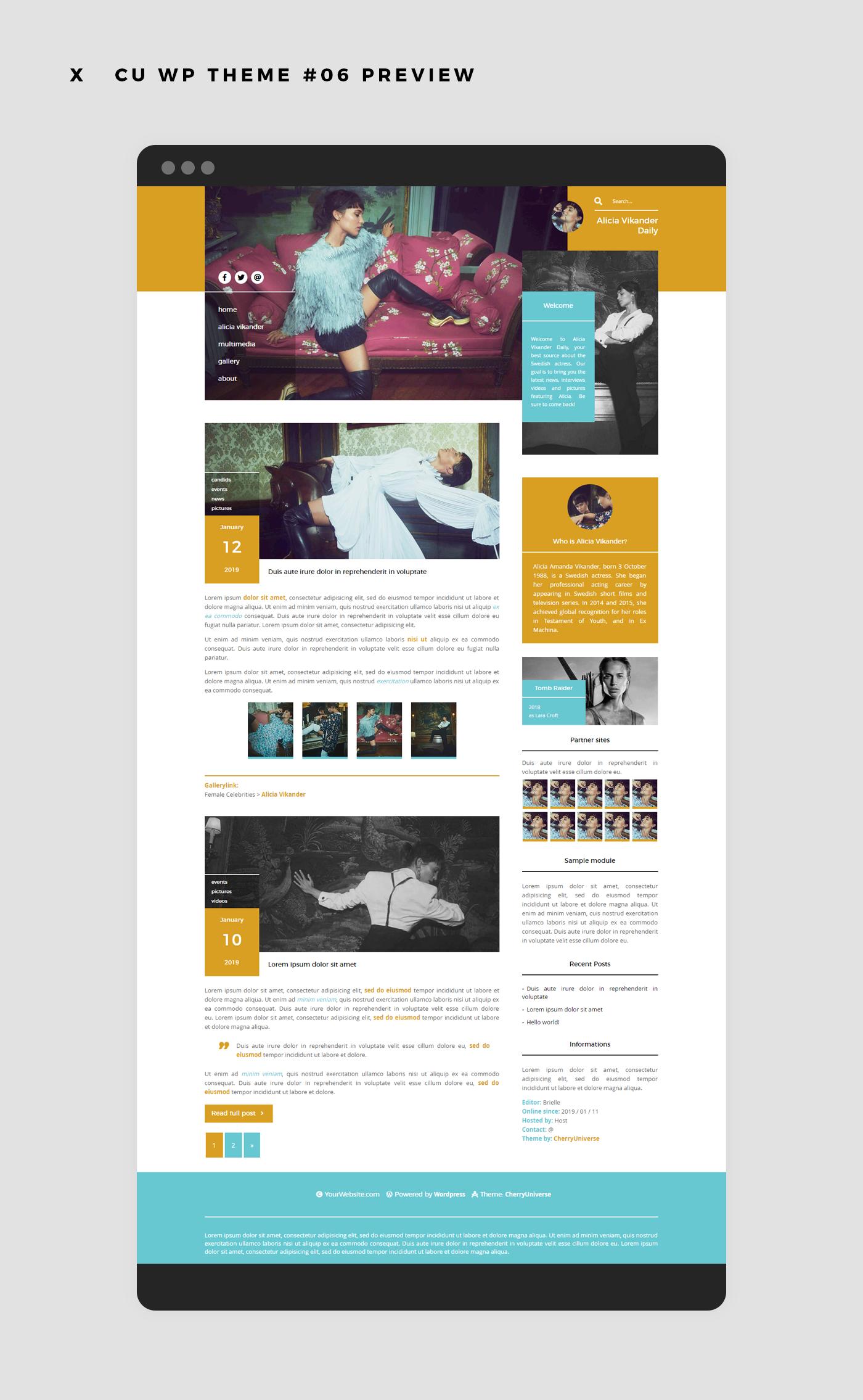 CU WordPress Theme #06 ~responsive {Premium}