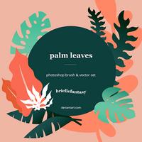 Palm Leaves Brush + Vector set ~ FREE