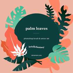 Palm Leaves Brush + Vector set ~ FREE