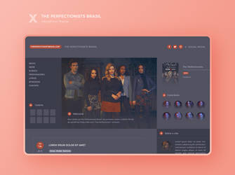 The Perfectionists Brasil WP Theme by BrielleFantasy