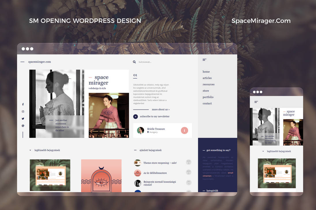Space Mirager Opening WordPress Theme by BrielleFantasy