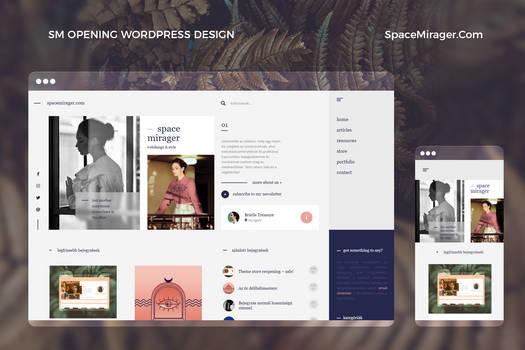 Space Mirager Opening WordPress Theme