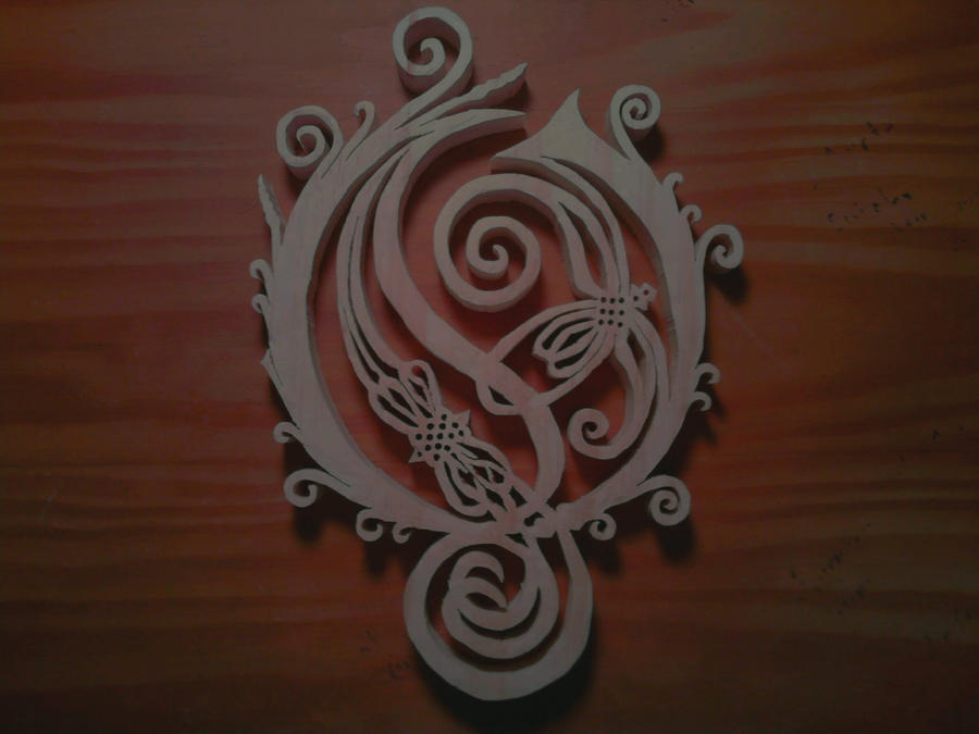 Opeth o logo wood carving by eleven on deviantart