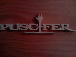 Puscifer Logo Wood Carving by Eleven1129