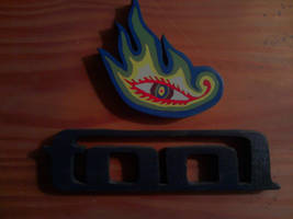 Tool Logo with Eye Painted Wood Piece by Eleven1129