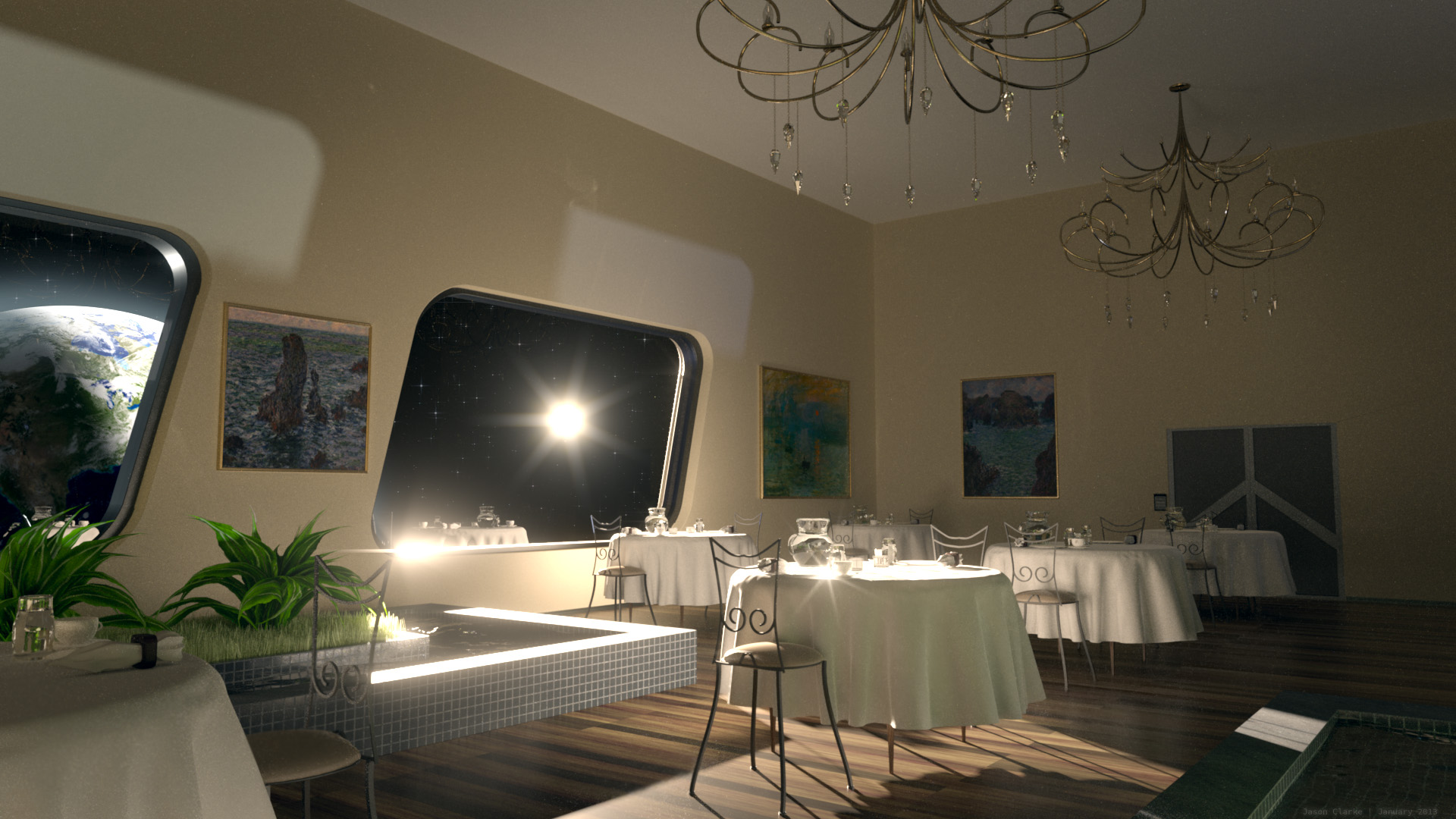 Orbital Restaurant by J-the-Ninja