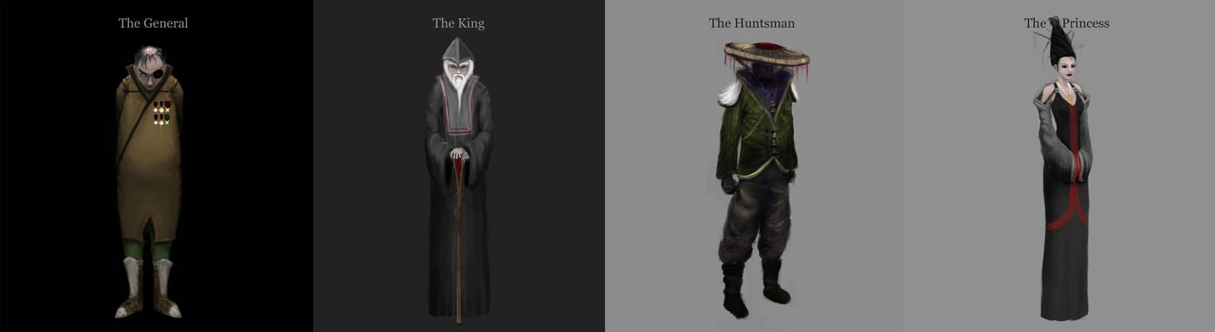 The Skillful Huntsman - Main Characters