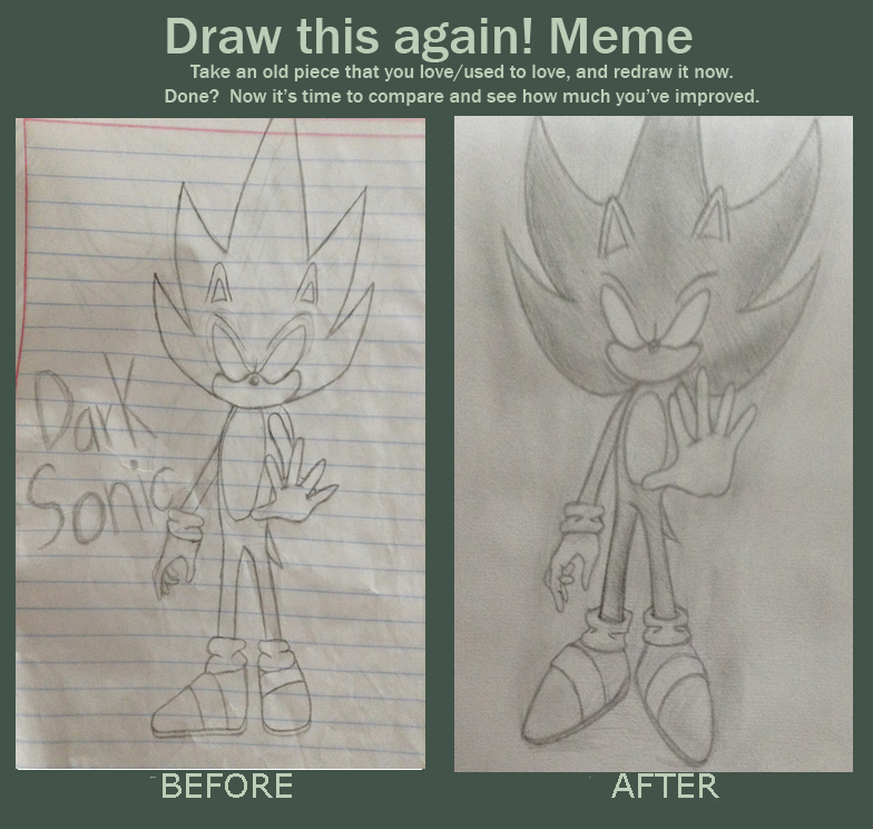 how to draw dark sonic