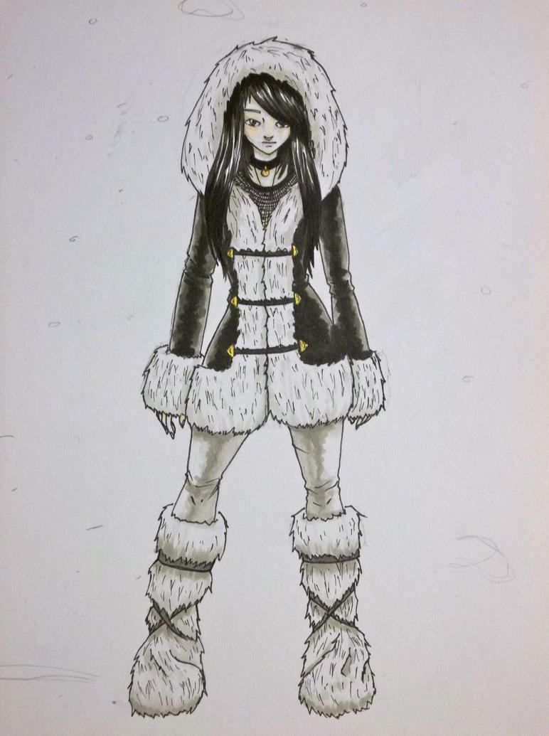 Eskimo style girl by crow55 on deviantart Animal fashion style me girl