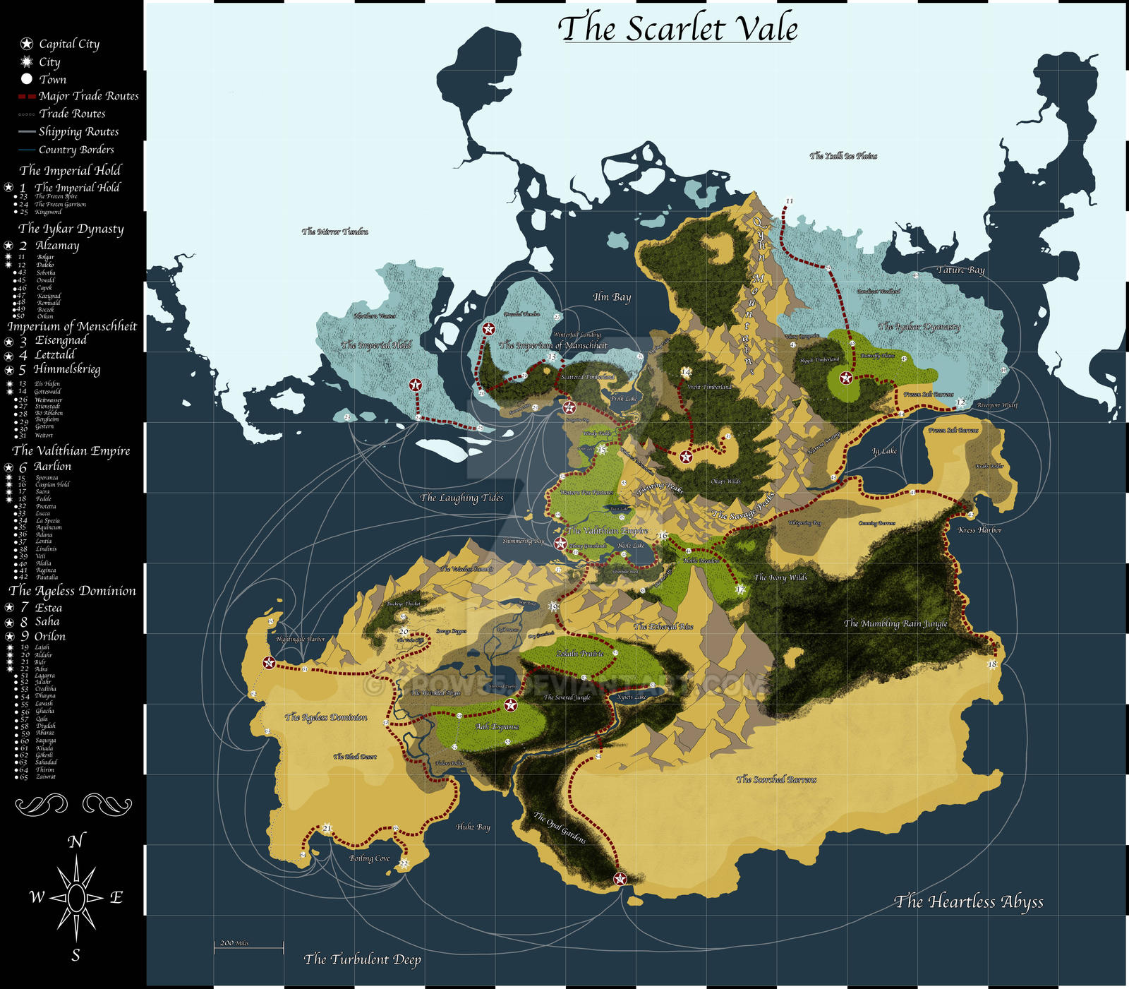 The Scarlet Vale Map by Crow55