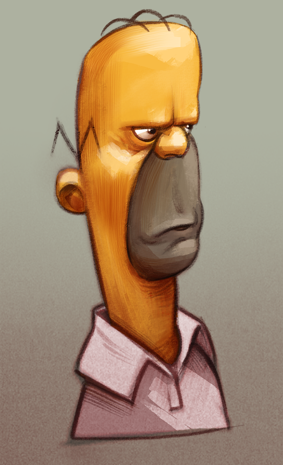 Homer by skinygalaxier