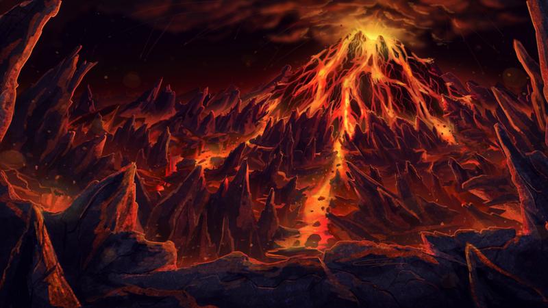 Underground Volcano by oddocean