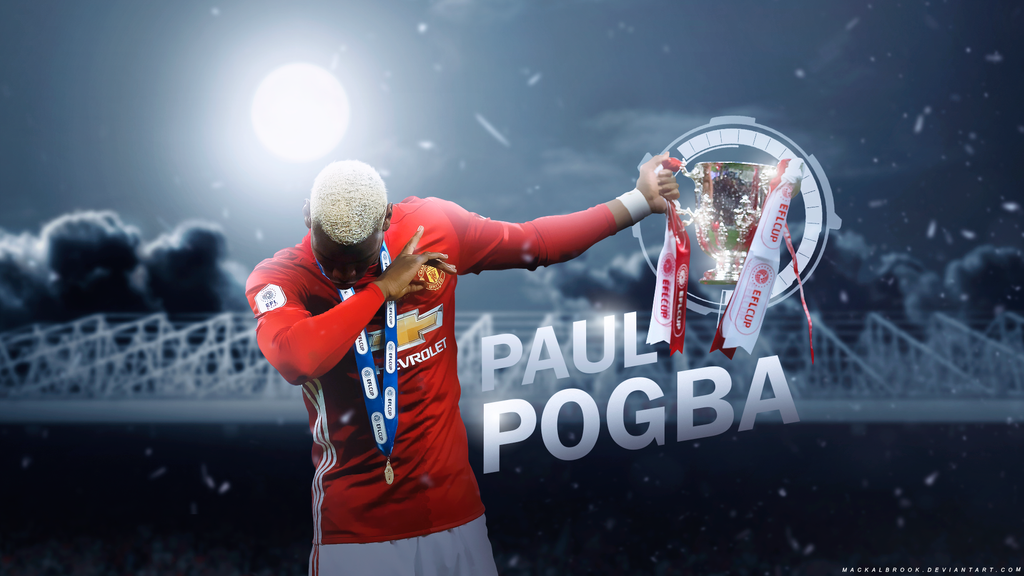 Paul Pogba (Manchester United) Wallpaper by Mackalbrook