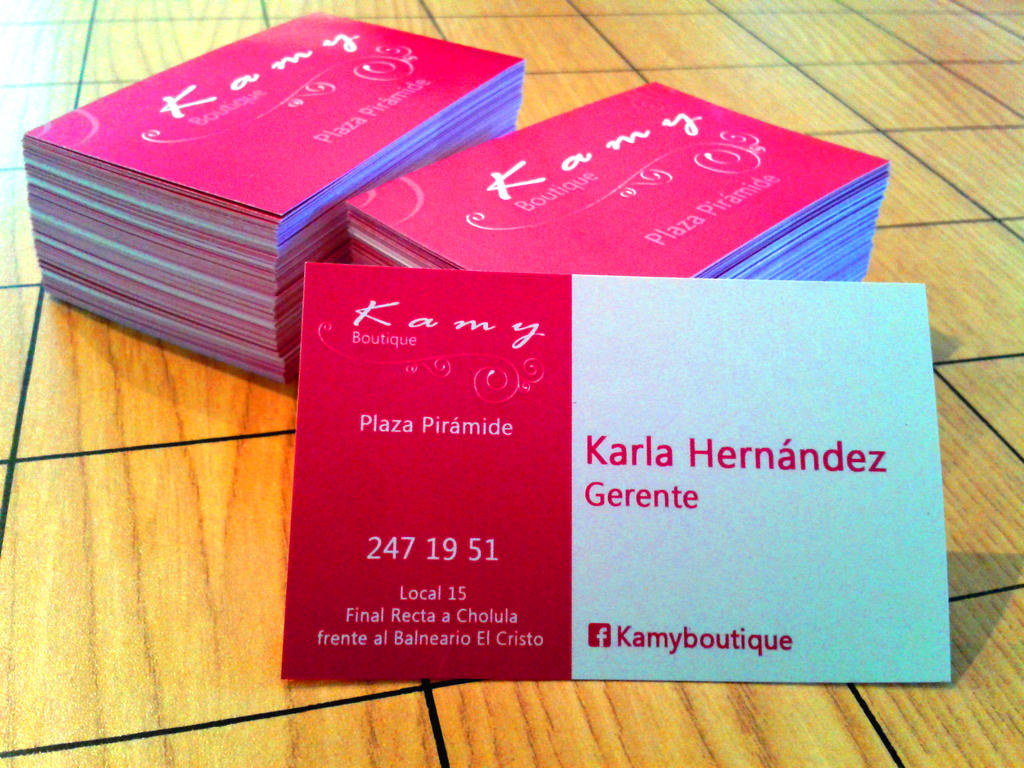 KAMY BOUTIQUE BUSINESS CARD by cpietrini on DeviantArt