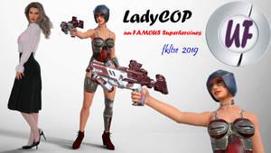Superheroines un-Famous LadyCop PIN UP 07