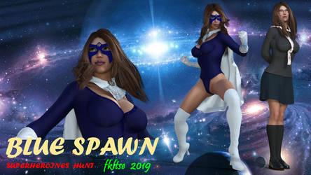 Superheroines Blue Spawn PIN UP 09 by fkltse