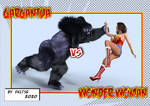 Superheroines Wonder Woman vs Gargantua P02