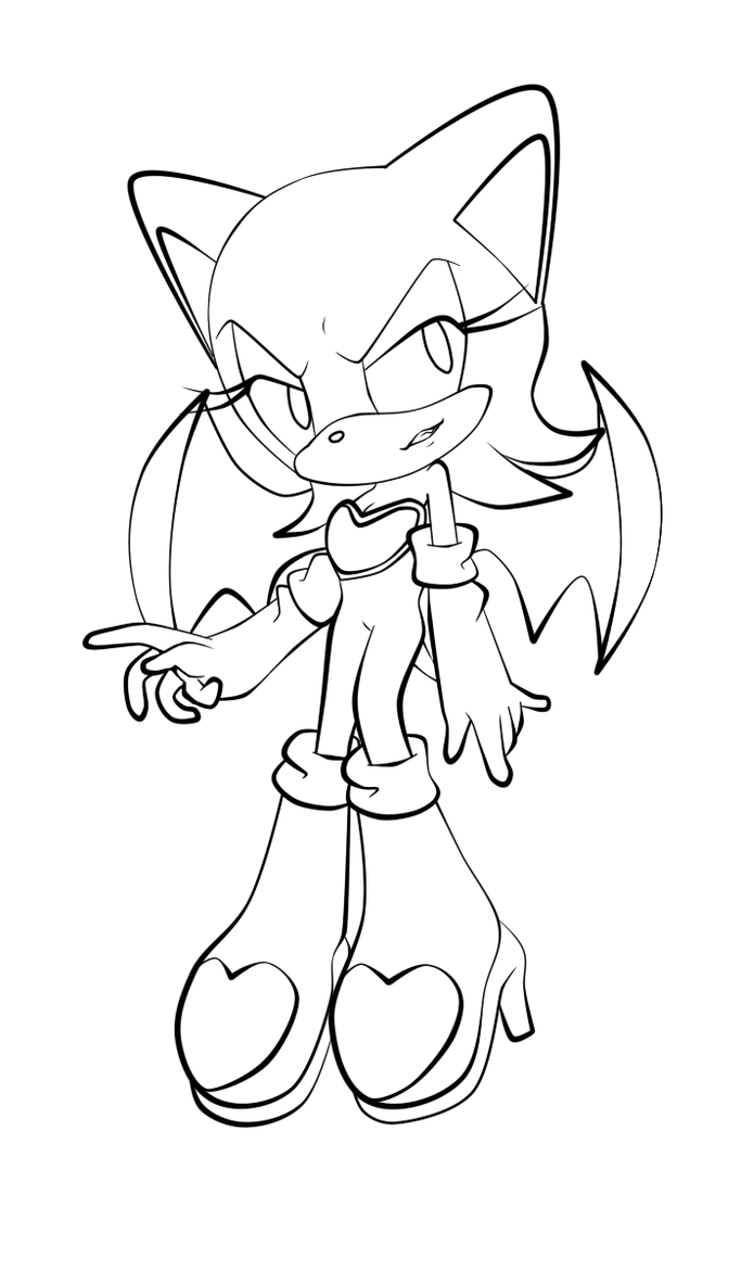 rouge the bat coloring pages - rouge free colouring pages