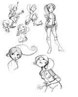 Spygirl character drawings by misshatter