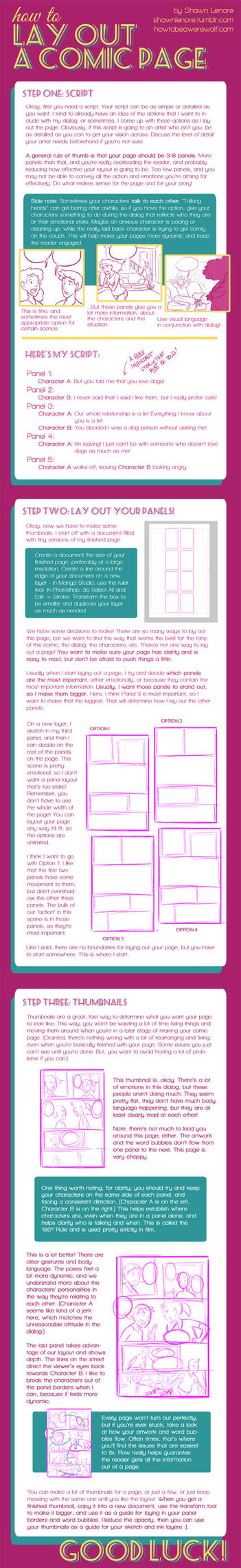 How to Lay Out a Comic Page by misshatter