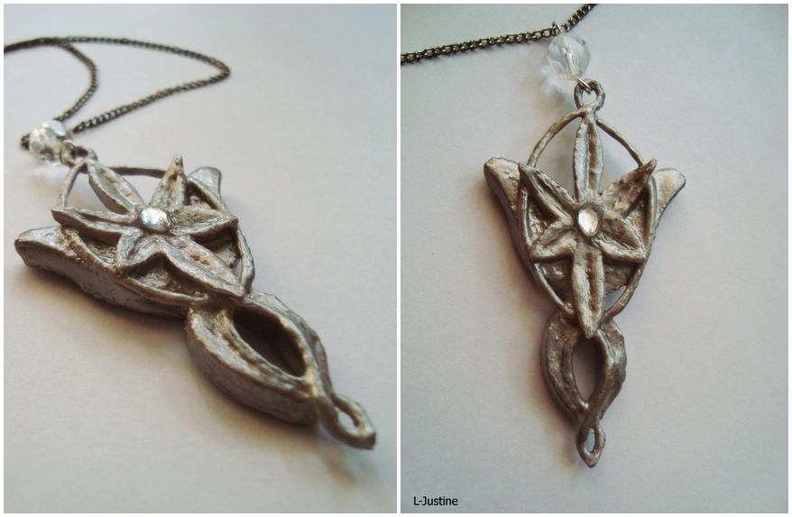 Arwen's 'Evenstar' pendant by L-Justine