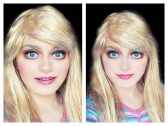 Barbie make-up transformation by L-Justine